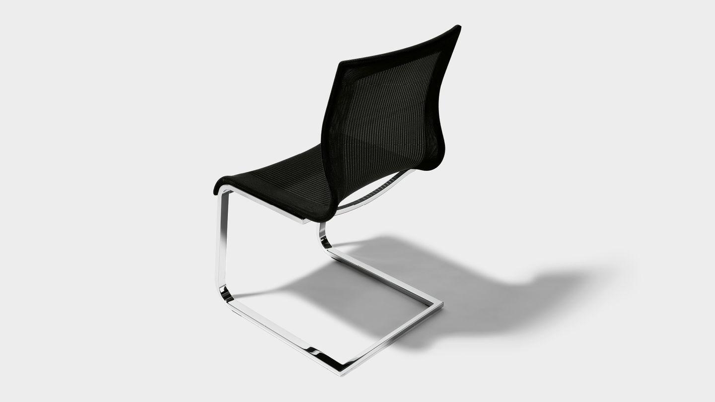Freischwinger Stuhl Mit Lehne