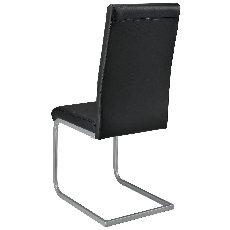 Freischwinger Stuhl Schwarz