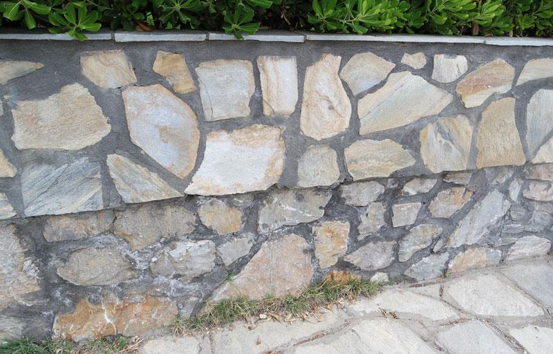 Fundament Natursteinmauer Bauen