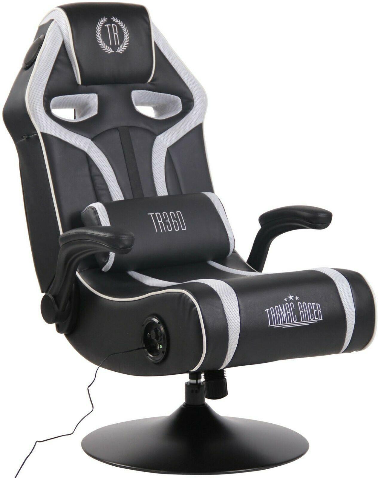 Gamer Stuhl Schwarz Weiß