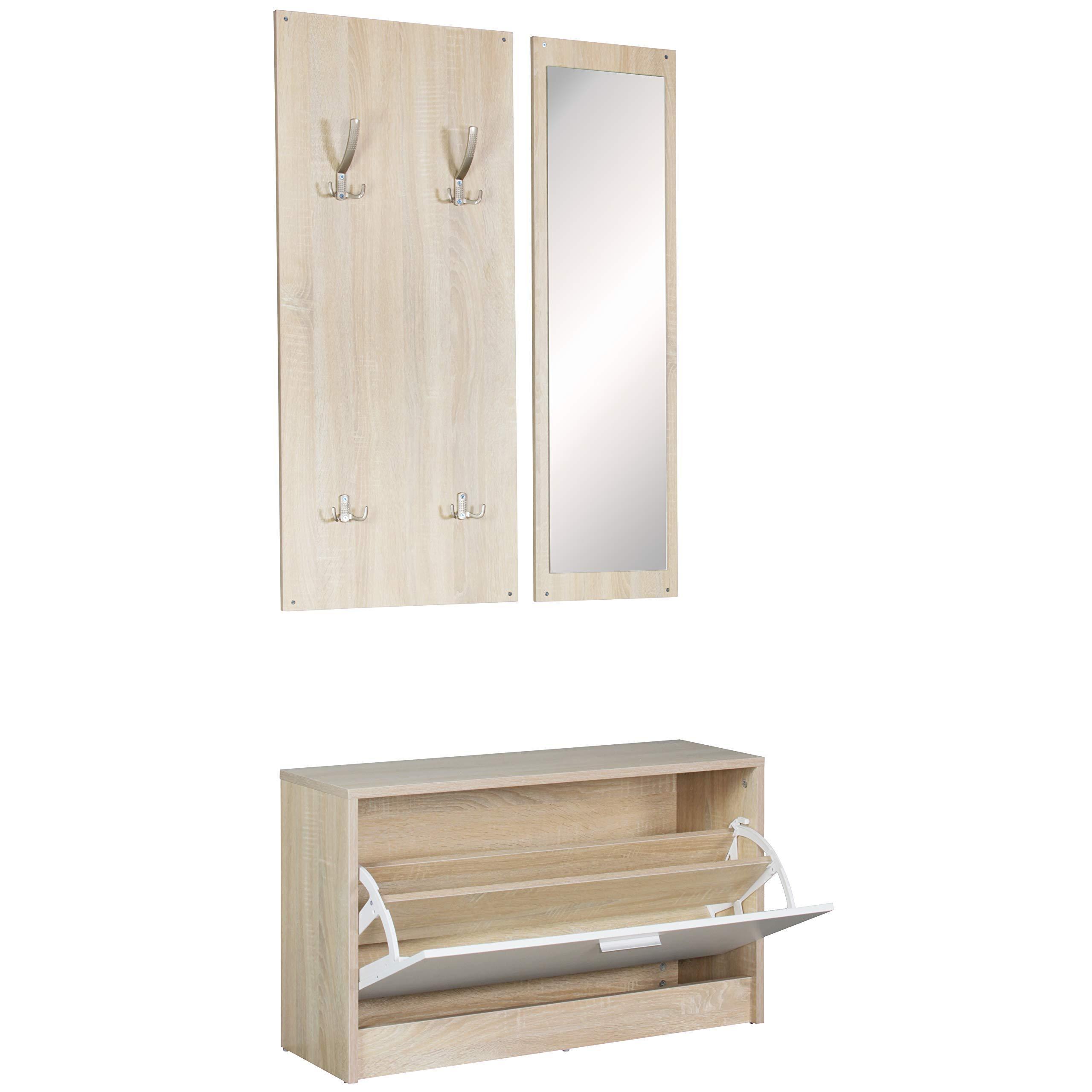 Garderobe Schmal Holz