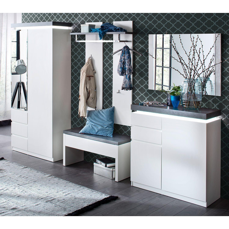 Garderobenschrank Schmal Spiegel
