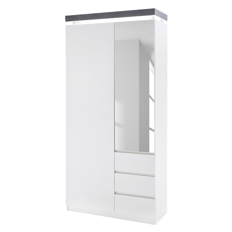 Garderobenschrank Weiß Schmal
