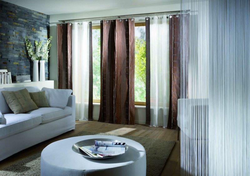 Gardinen Wohnzimmer Modern Weiß