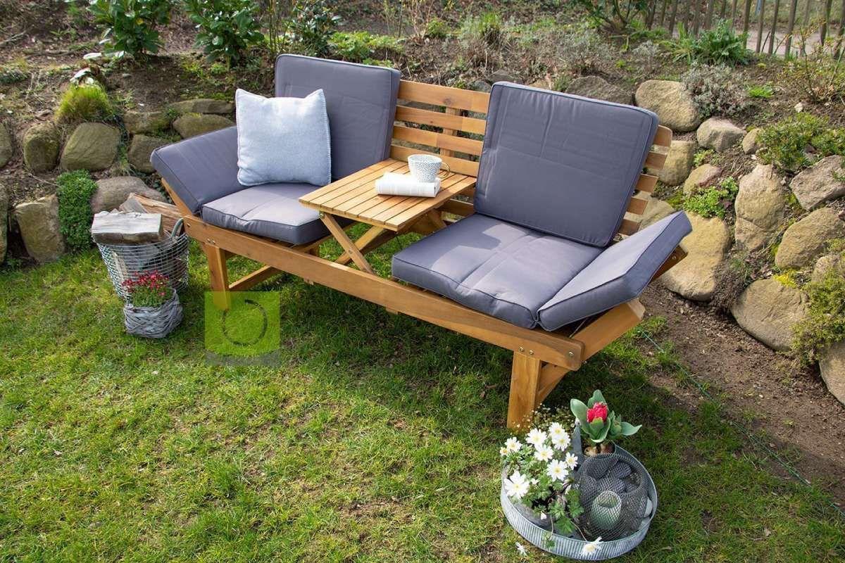 Garten Holzbank Mit Integriertem Tisch