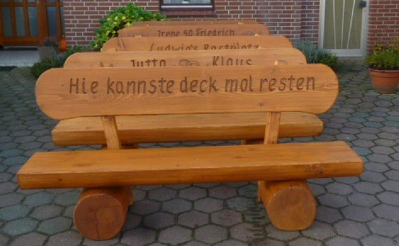 Garten Holzbank Rustikal