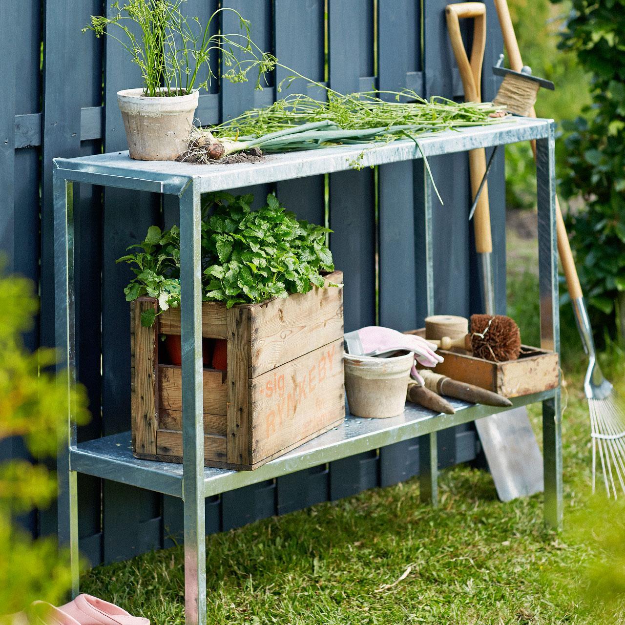 Garten Pflanztisch Metall