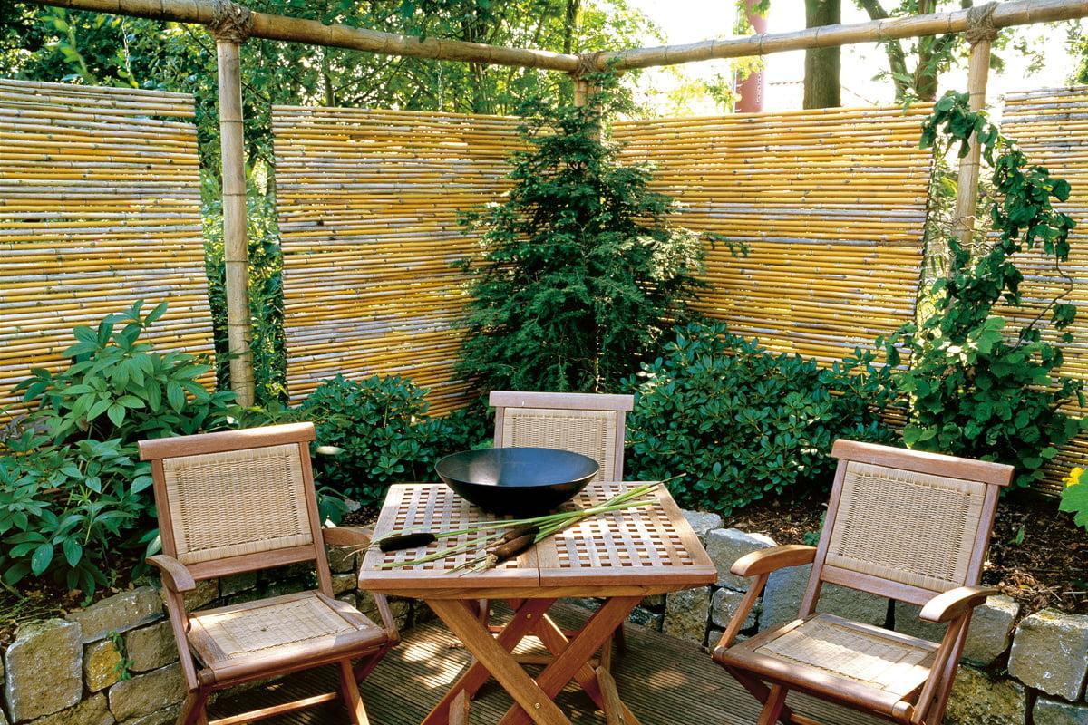 Garten Sichtschutz Holz Mit Tür
