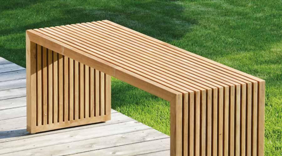Gartenbank Holz Metall Modern