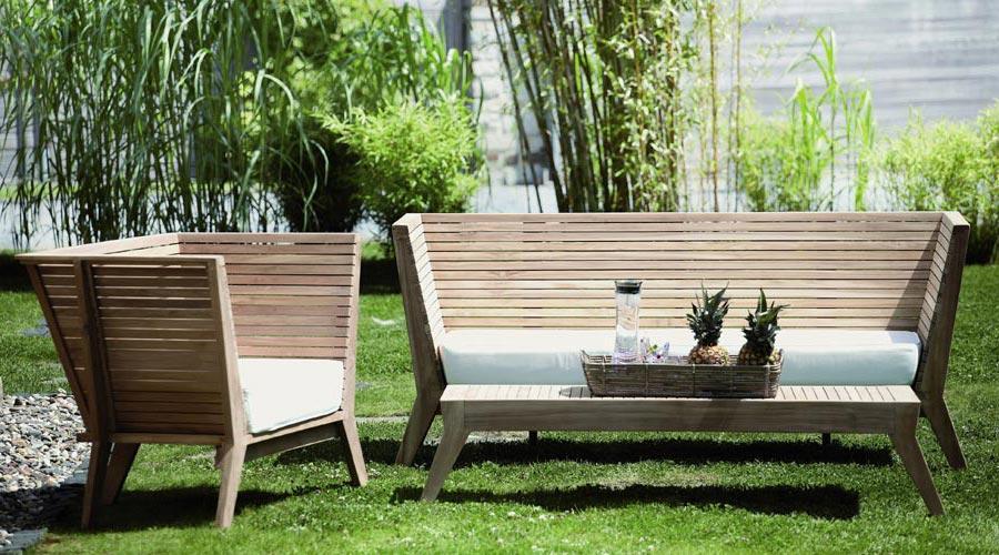Gartenbank Modern Holz