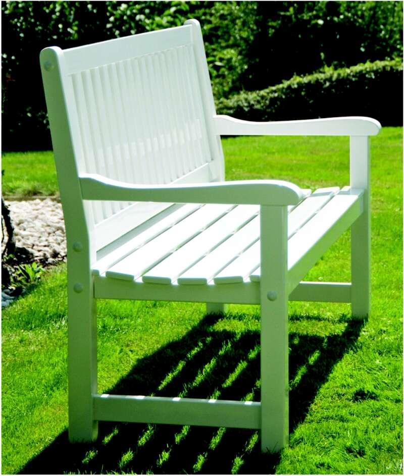 Gartenbank Weiß 2 Sitzer
