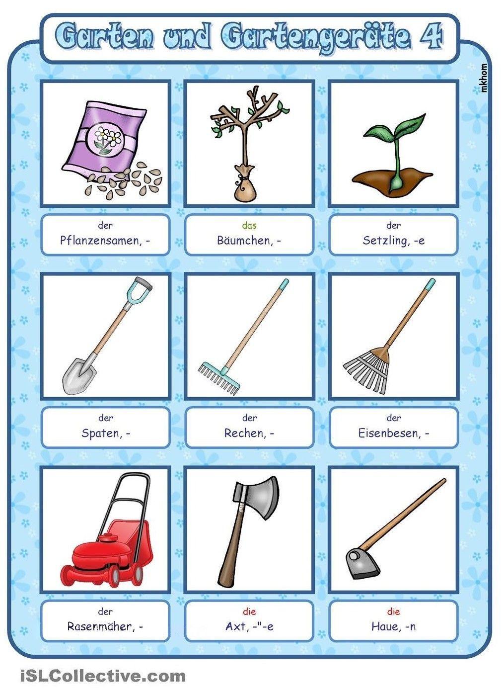 Gartengeräte Bilder Und Namen