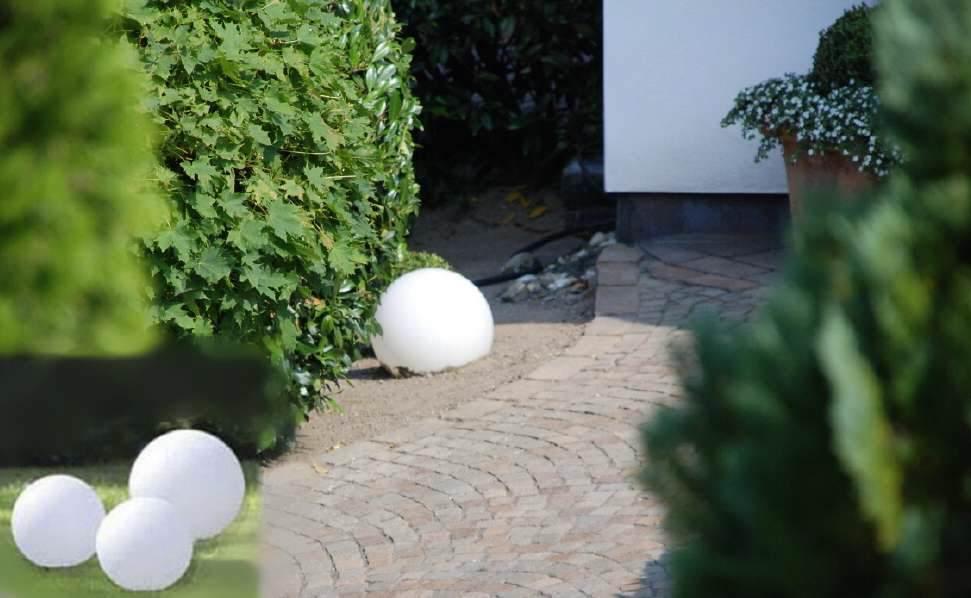 Gartengestaltung Mit Kugelleuchten