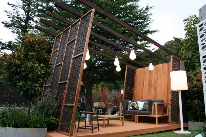 Gartengestaltung Sichtschutz Holz Garten