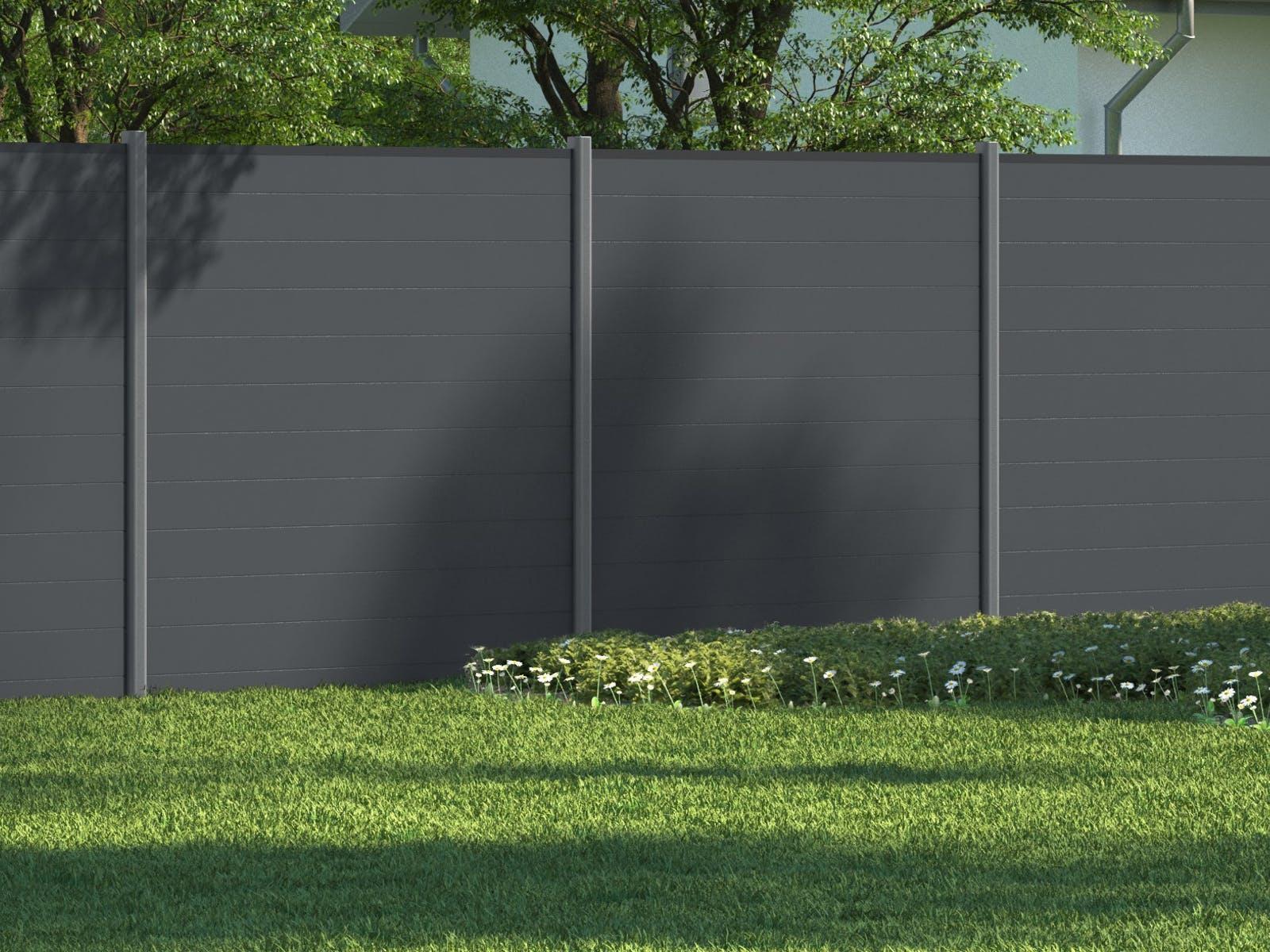 Gartengestaltung Sichtschutz Modern Grau