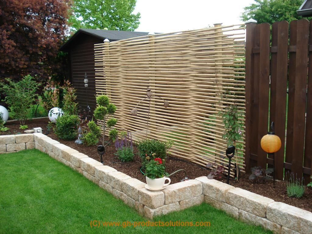 Gartengestaltung Sichtschutz Pflanzen Modern