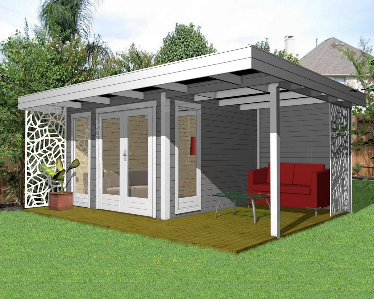 Gartenhaus 3x3m Mit Vordach