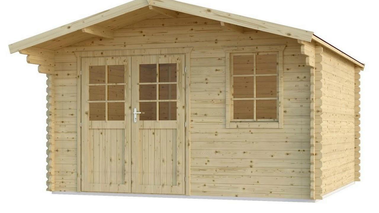 Gartenhaus 4×4 Mit Vordach