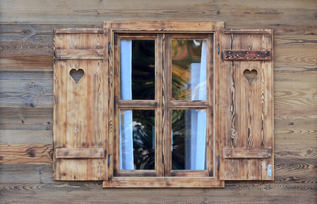 Gartenhaus Fenster Rund
