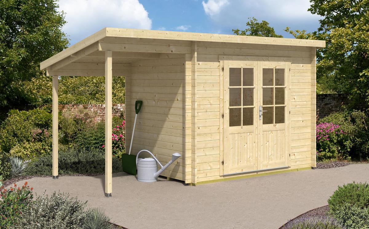 Gartenhaus Holz Pultdach Mit Anbau