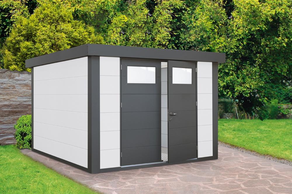 Gartenhaus Metall Doppeltür