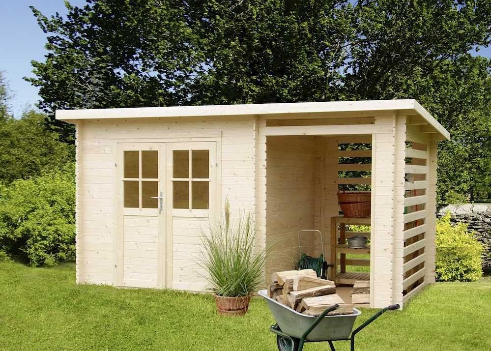 Gartenhäuser Aus Holz Mit Aufbau