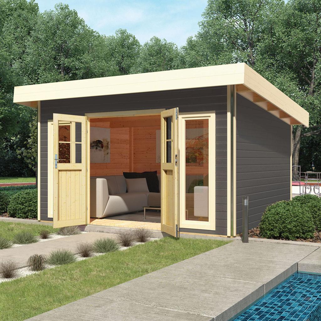 Gartenhütte Holz Grau