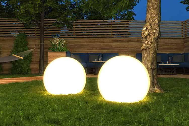 Gartenlampe Mit Steckdose Und Fernbedienung