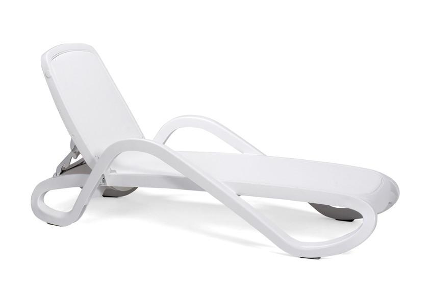 Gartenliege Kunststoff Weiß