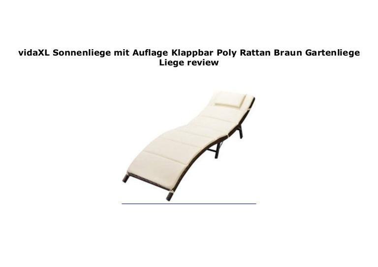 Gartenliege Rattan Klappbar