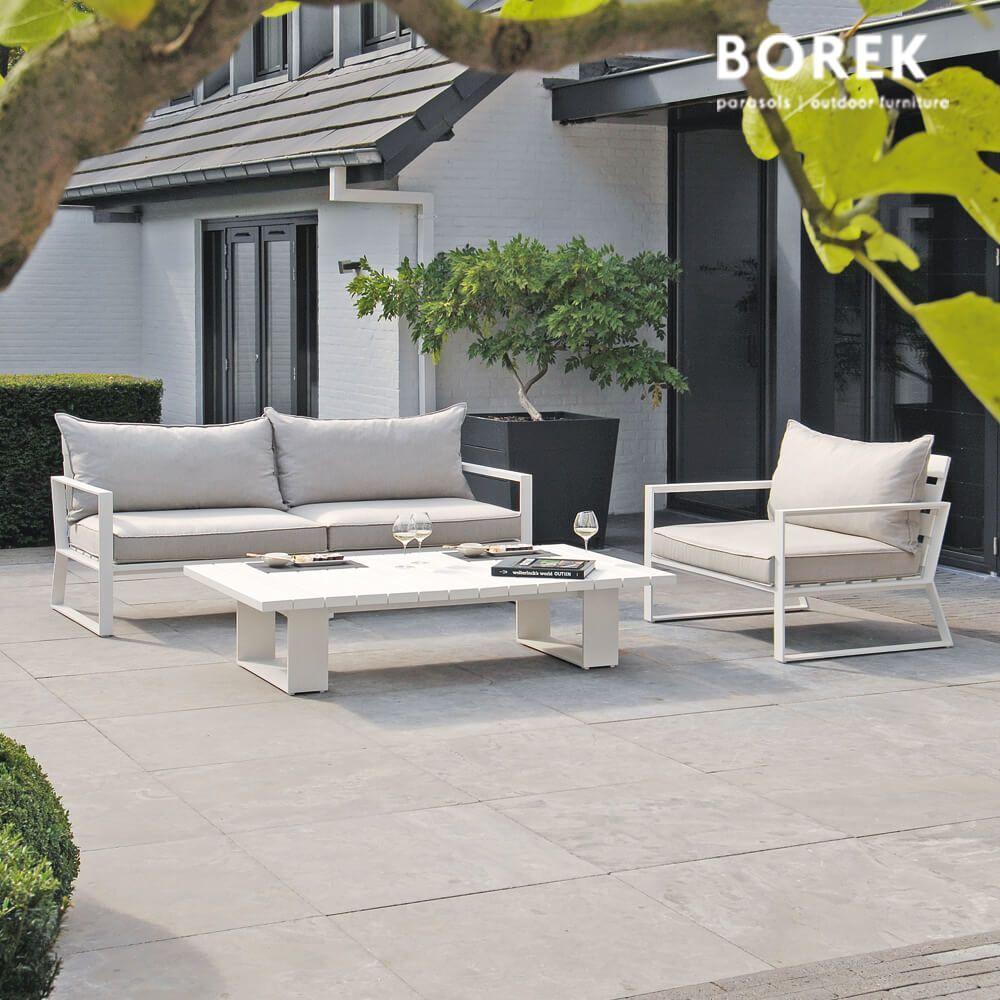 Gartenmöbel Aluminium Weiss