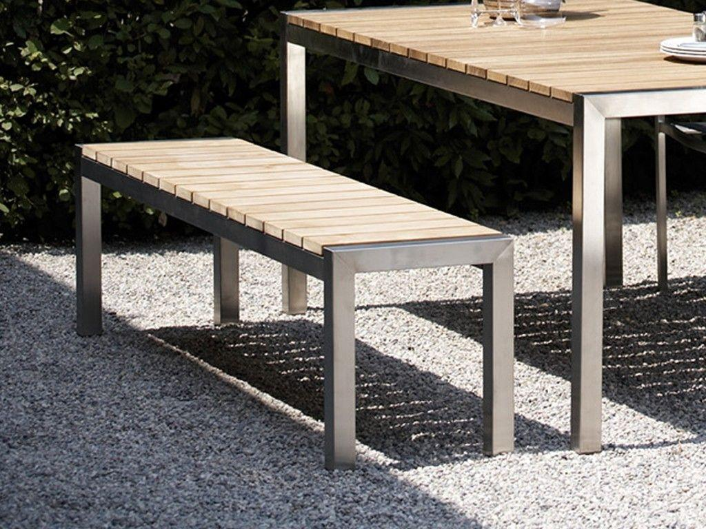 Gartenmöbel Holz Metall Mit Bank