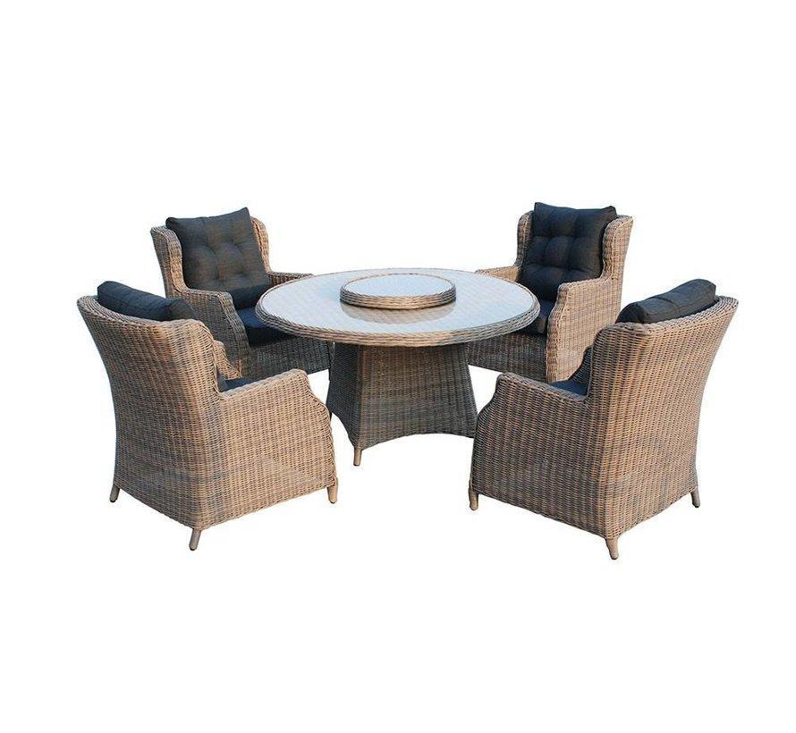 Gartenmöbel Rattan Runder Tisch