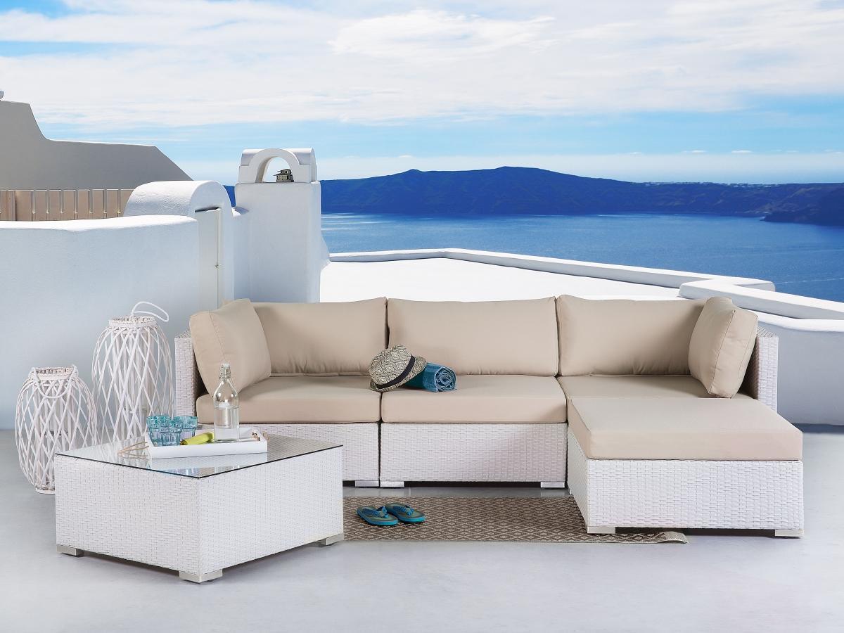 Gartenmöbel Weiß Lounge
