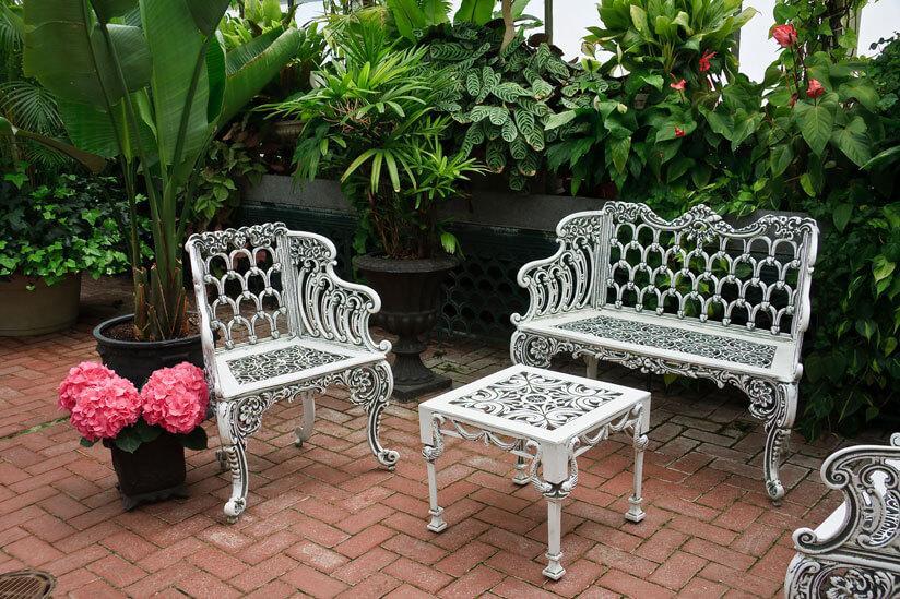 Gartenmöbel Weiß Metall