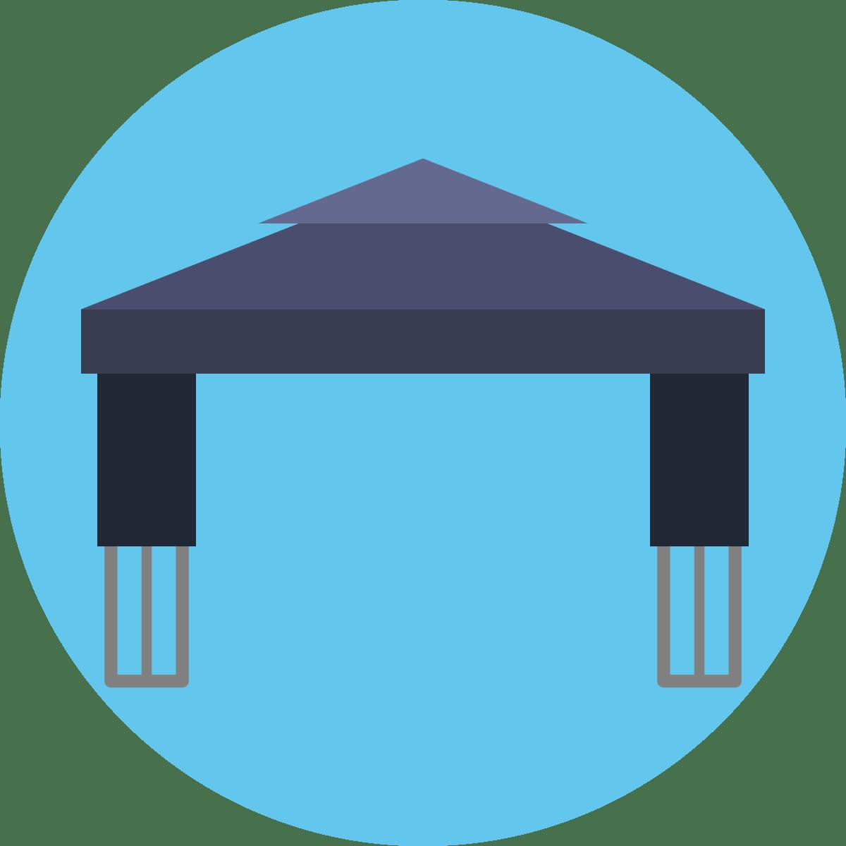 Gartenpavillon Metall 4×4