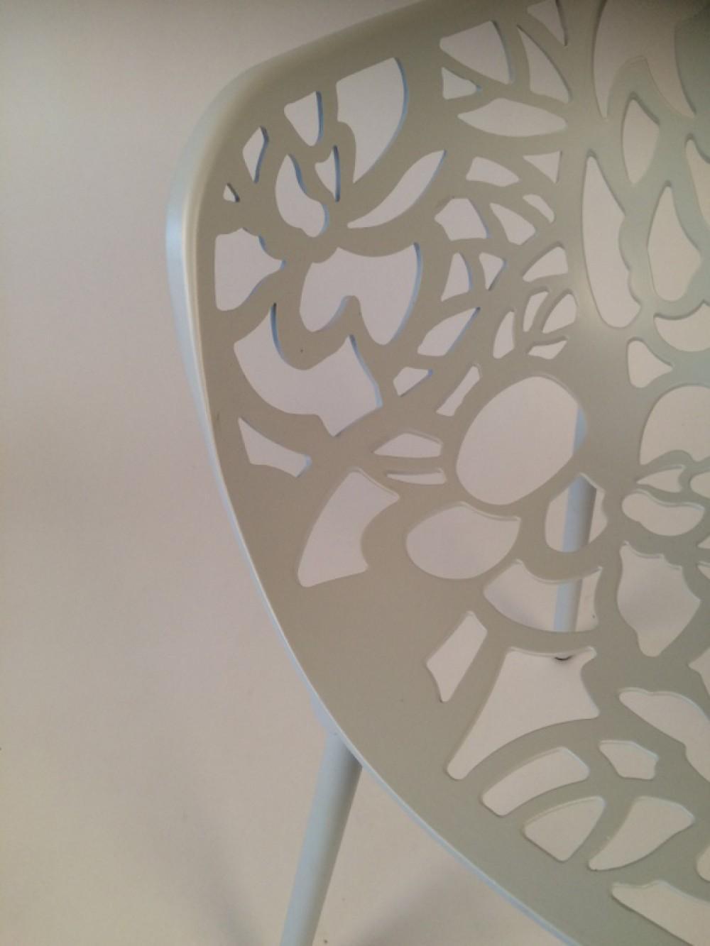 Gartenstuhl Aluminium Weiß