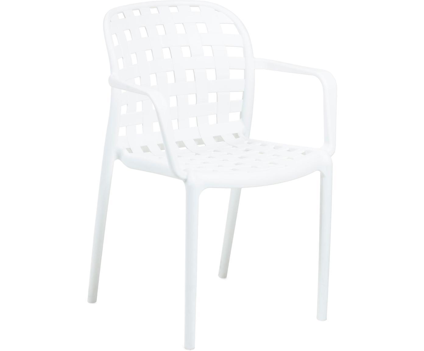 Gartenstuhl Weiß Kunststoff