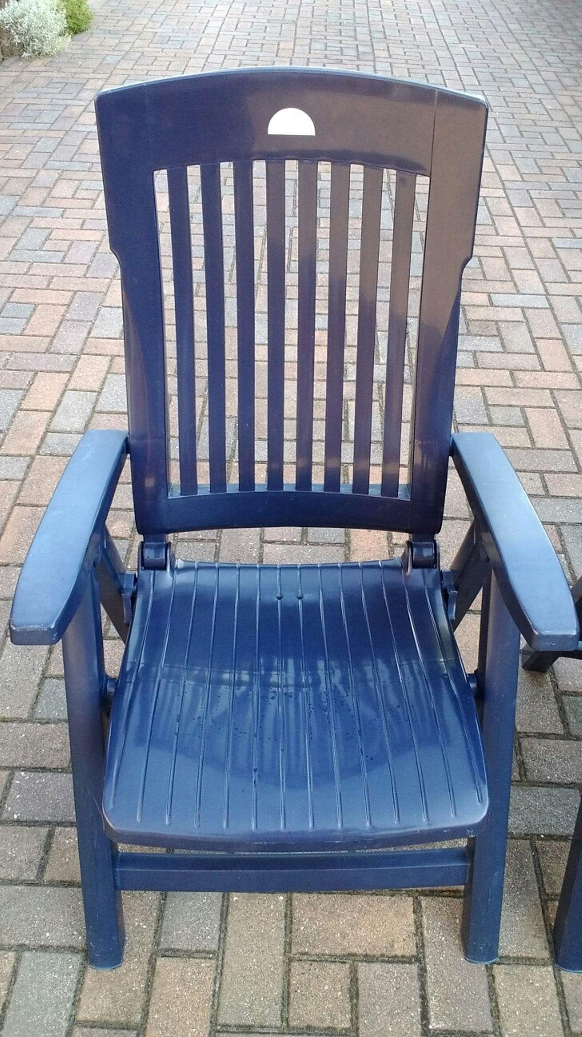 Gartenstühle Plastik Blau