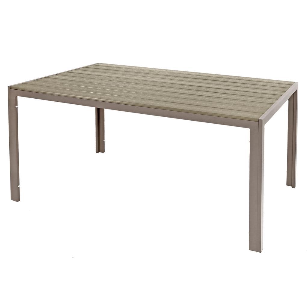 Gartentisch Aluminium Holz
