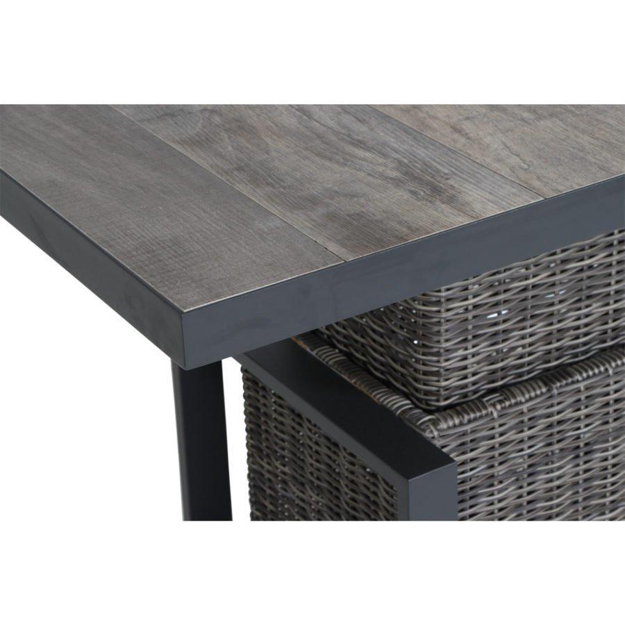 Gartentisch Höhenverstellbar Holz