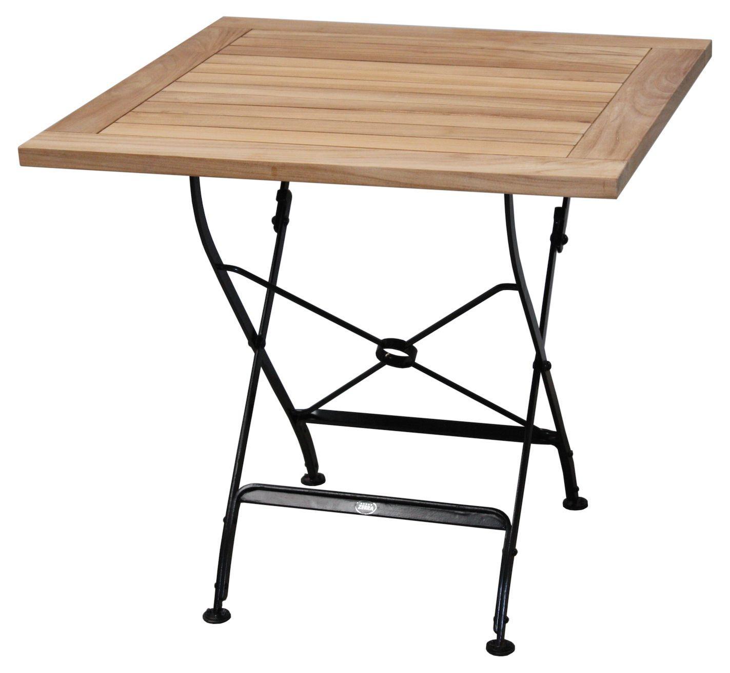 Gartentisch Holz Metall Quadratisch