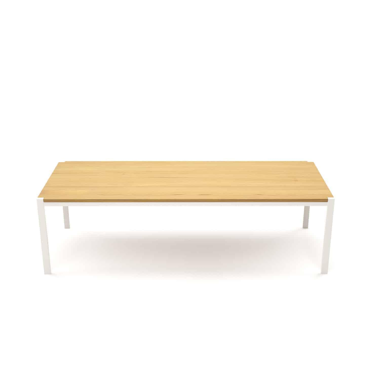 Gartentisch Holz Metall Weiß