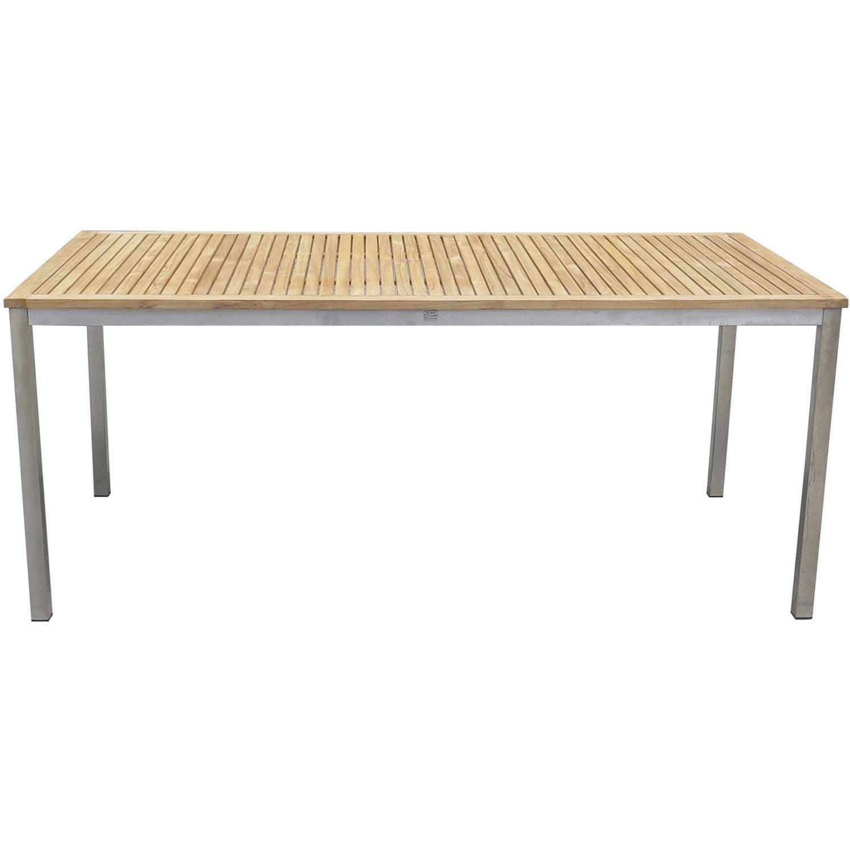 Gartentisch Holz Metallfüße