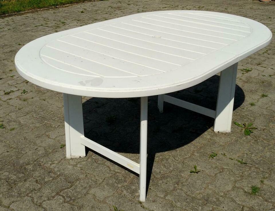 Gartentisch Kunststoff Oval