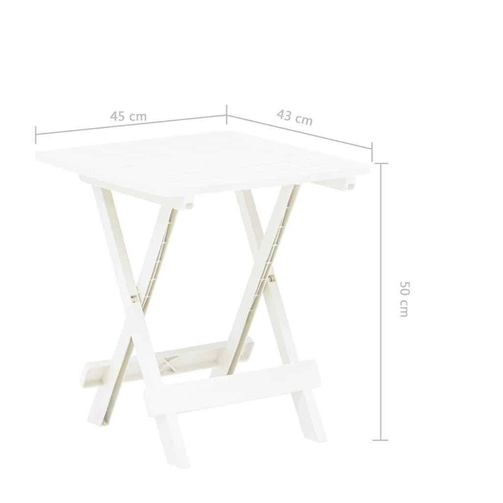 Gartentisch Kunststoff Weiß