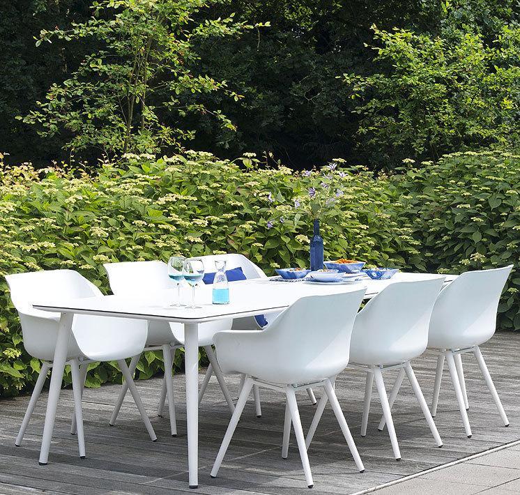 Gartentisch Und Stühle Weiß