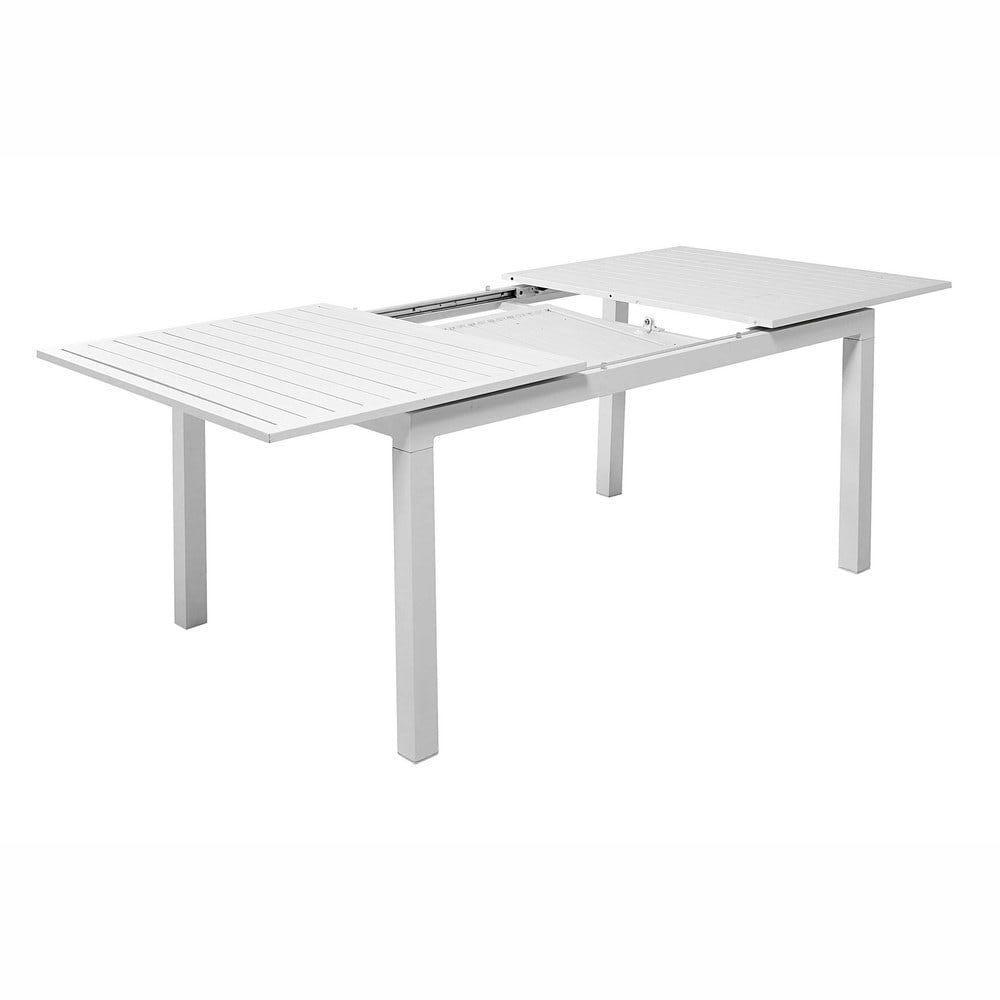Gartentisch Weiß Holz Ausziehbar