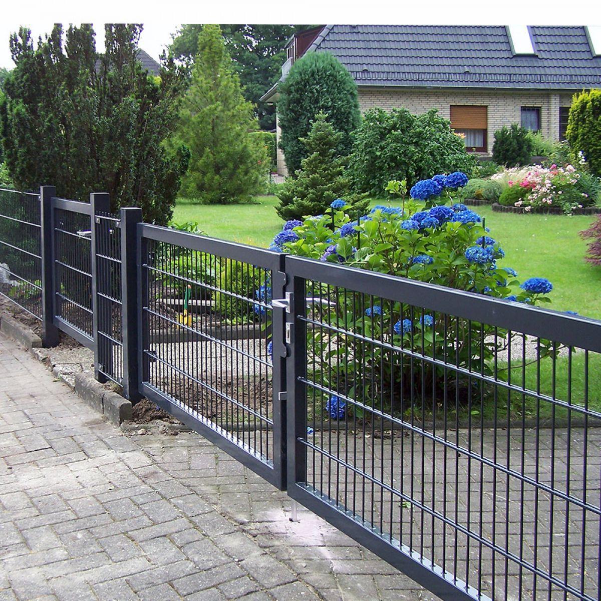 Gartentor Anthrazit Modern