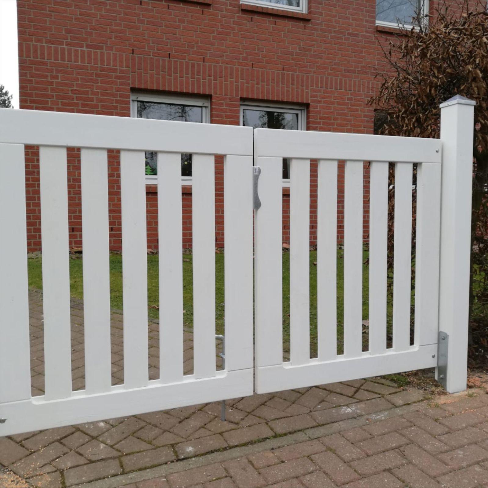 Gartentor Holz Weiß